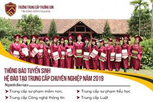Thông báo tuyển sinh Hệ trung cấp chính quy 2019